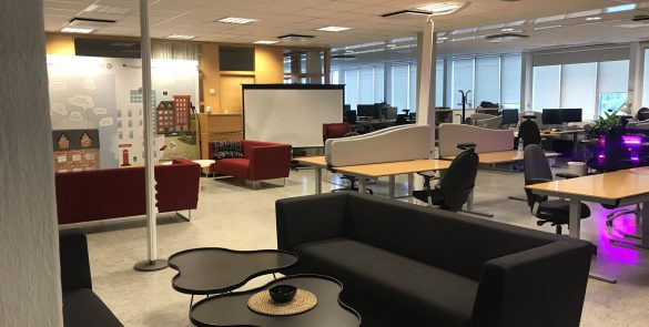 common area at Sensative office and open IoT labs